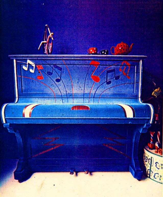 Flocked Piano 1973, Richmond.
