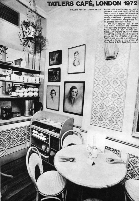 Tatlers Café South Kensington 1973