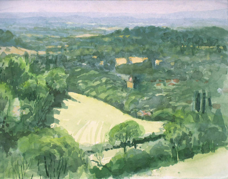 Plein air Watercolor 1992