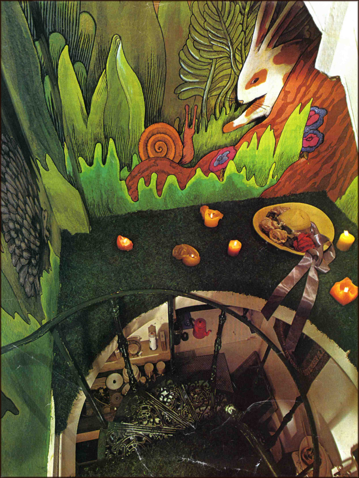 """Down the Rabbit Hole"". Begining of staircase theme 1969"